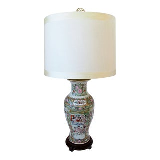 Famille Verte Porcelain Lamp For Sale