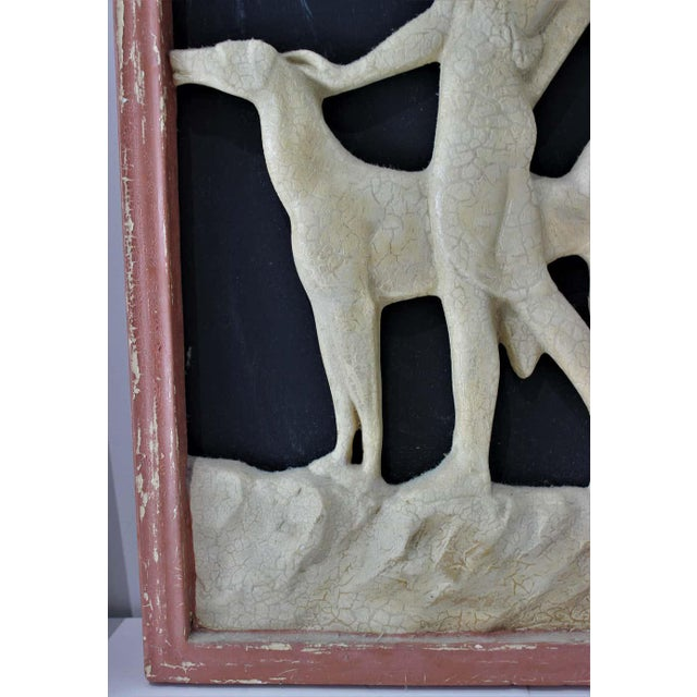 Art Deco 1920s Wall Plaques - a Set of 2 For Sale - Image 10 of 13