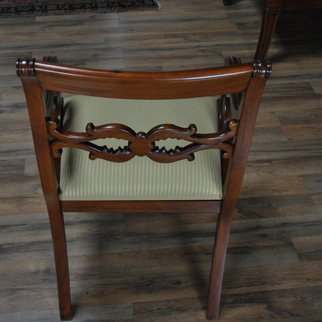 Philadelphia Empire Arm Chair - a Pair For Sale - Image 11 of 13