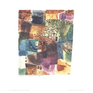 "Paul Klee Erinnerung an Einen Gart 27.5"" X 23.5"" Poster 1986 Surrealism Multicolor, Blue, Purple For Sale"