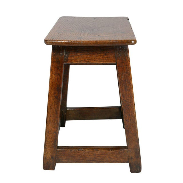 George II Oak Stool/Table For Sale - Image 5 of 8