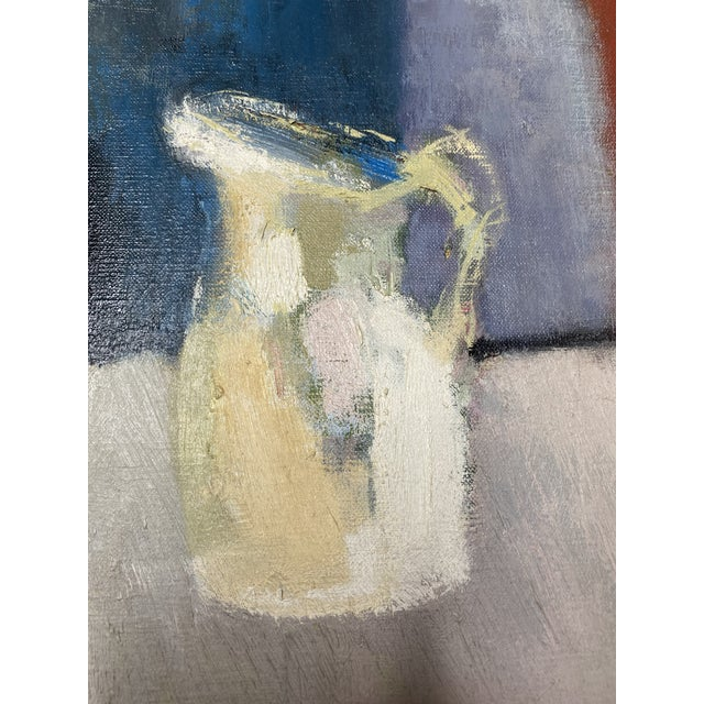 Mid 20th Century Abstract Original Oil Still Life Painting, Framed For Sale - Image 9 of 13