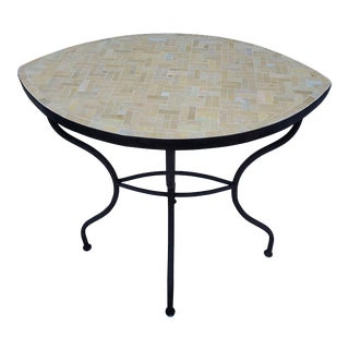 Natural Moroccan Mosaic Console Table For Sale