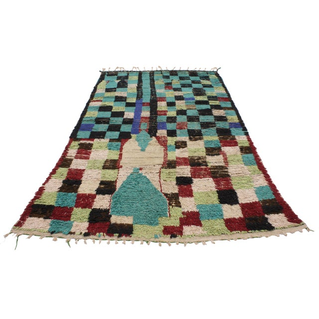 Boho Chic Vintage Berber Moroccan Rug with Modern Tribal Style, 04'05 x 07'06 - Image 4 of 9