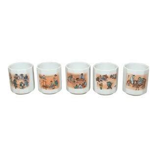 Japanese Saki Cups - Set of 5