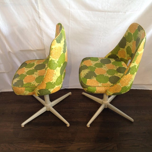 Mid-Century Modern Swivel Chairs- A Pair - Image 5 of 5