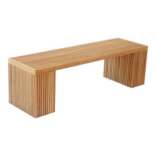 "Niagara Teak Liner Bench Stool - 59"" For Sale"