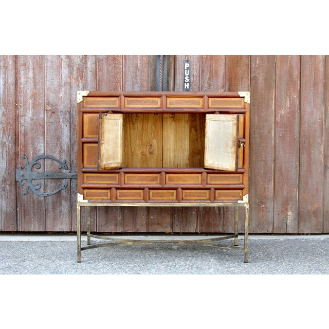 Korean Dowry Vintage Chest on Stand For Sale - Image 4 of 7