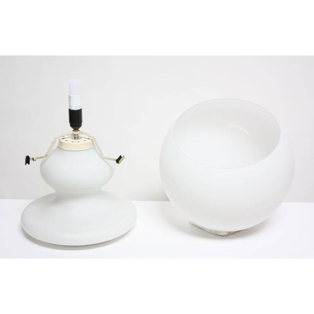 Substantial Mid-Century Italian Modern Cased and Frosted Glass Lamp - Image 5 of 10
