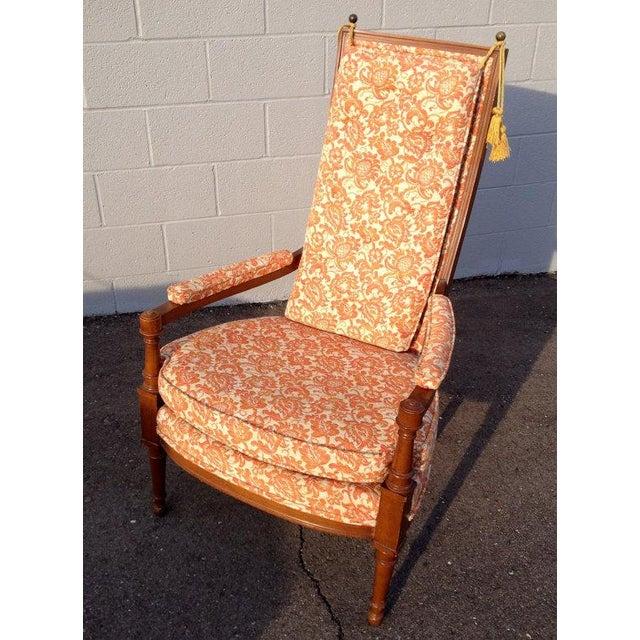 Vintage Orange Throne Chair W Tassels Chairish