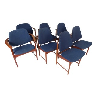 Hovmand-Olsen Danish Modern Dining Chairs - Set of 8
