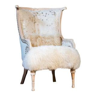 French Chic Ava White Mahogany Chair