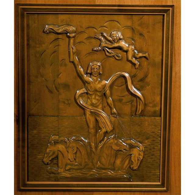 Bodafors Swedish Art Deco Neoclassical Carved Armoire Cabinet For Sale - Image 4 of 10