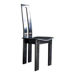 1980s Contemporary Black Lacquer Desk Chair For Sale