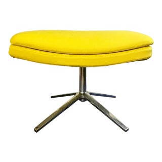 B & B Italia Contemporary Yellow Ottoman Designed by Jeffrey Bernett