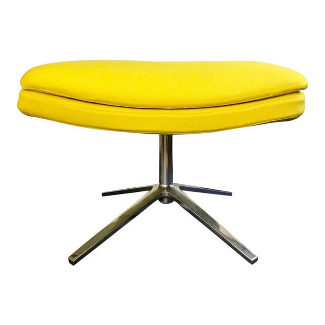 B & B Italia Contemporary Yellow Ottoman Designed by Jeffrey Bernett For Sale