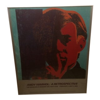 Andy Warhol Self Portrait Offset Lithograph From the Museum of Modern Art New York 1989 For Sale