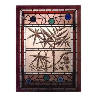 English Victorian Stained Glass Window For Sale