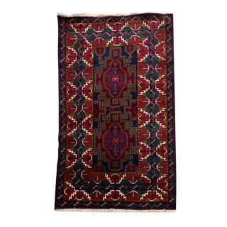 Contemporary Tribal Hand-Knotted Rug - 4′ × 6′6″ For Sale