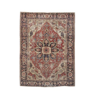 Blue & Red Serapi Persian Rug - 9′9″ × 12′9″ For Sale