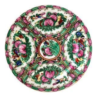 Hand-Painted Rose Medallion Plate For Sale