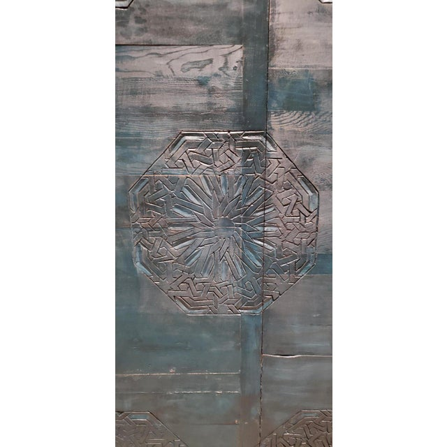 21st Century Vintage Moroccan Wooden Panel For Sale - Image 4 of 7