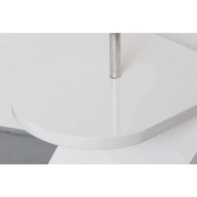 Contemporary White Lacquer Floor Lamp with Tray 1970s For Sale - Image 3 of 10