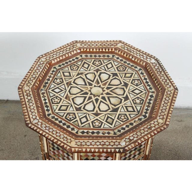 Pair of Syrian Octagonal Tables Inlaid with Mother-Of-Pearl For Sale In Los Angeles - Image 6 of 10