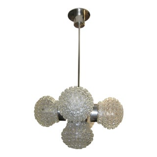 Italian Modernist Bubble Globe Sputnik Chandelier, 1960 For Sale