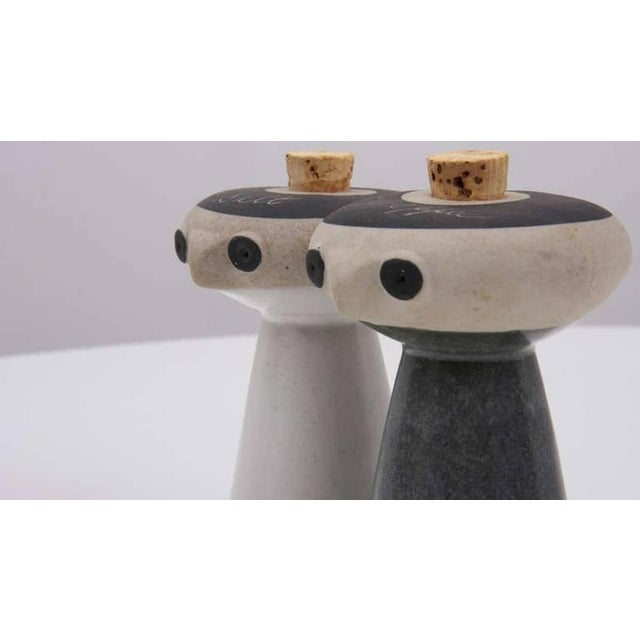 1960s Mr. Salt and Mrs. Pepper from Bennington Pottery by David Gil For Sale - Image 5 of 6