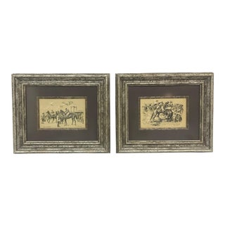 Gilt-Framed English Horse Race Prints - A Pair
