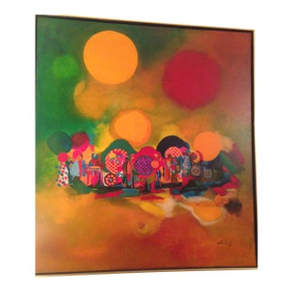 """""""Dream of Comedia"""" Modern Brazilian Painting For Sale"""