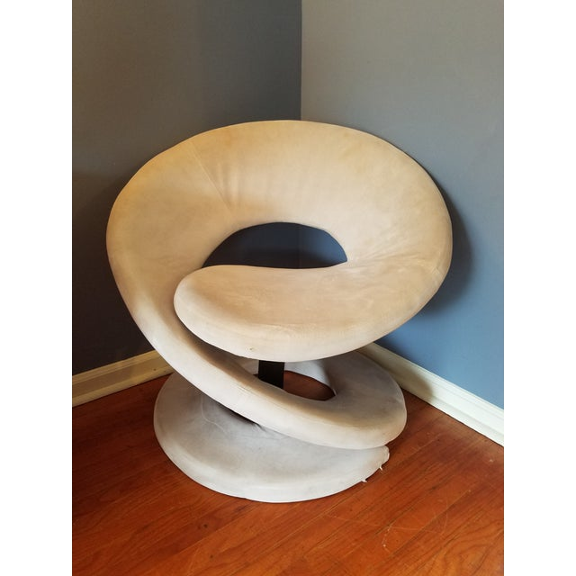 Sculptural Spiral Lounge Chair After Louis Durot For Sale - Image 9 of 9
