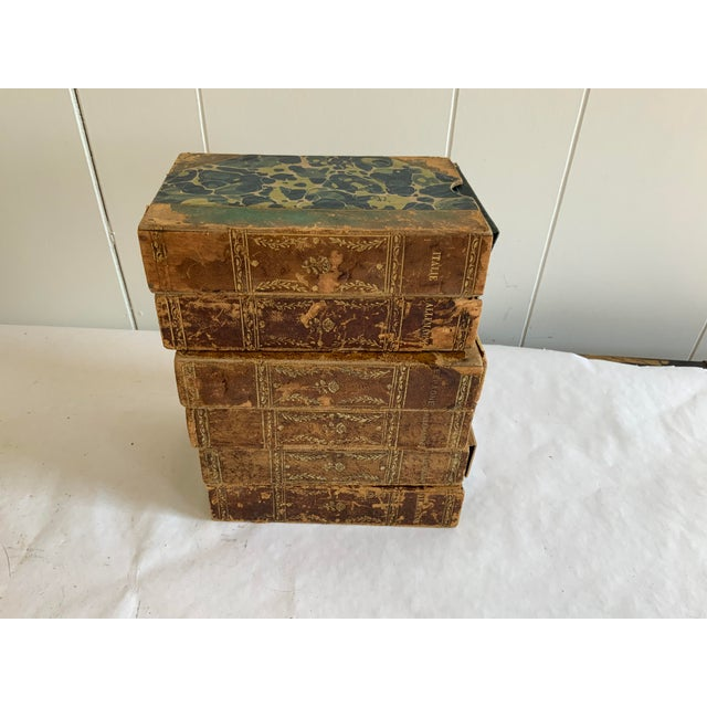 Italian Antique Italian Faux Book Boxes For Sale - Image 3 of 8