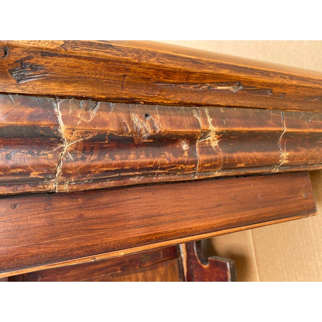 Chinese Elm Altar Large Console Table For Sale - Image 10 of 13