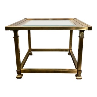 Mastercraft Hollywood Regency Brass Picture-Frame Side Table For Sale