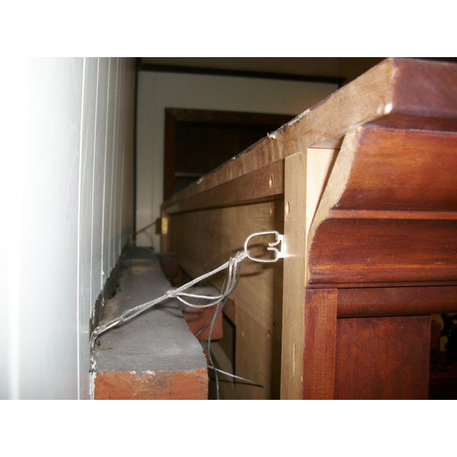 Wood Modern Solid Cherry Fireplace Mantle Arched For Sale - Image 7 of 12