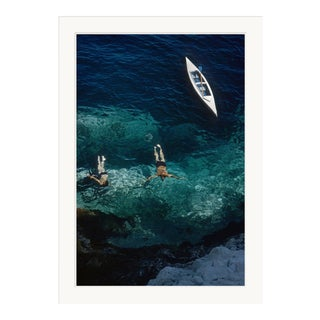 """Slim Aarons, """"Capri Holiday,"""" January 1, 1958 Getty Images Gallery Framed Art Print For Sale"""