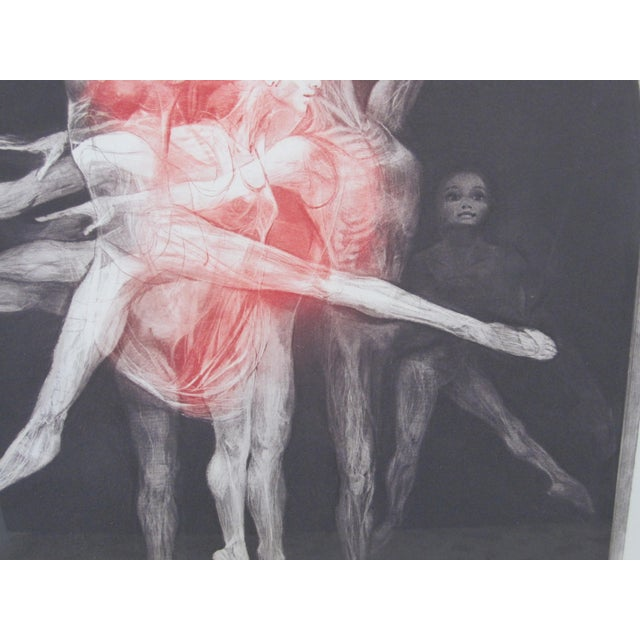 "1970s 1970s Vintage G. H. Rothe ""Grand Saute"" Signed Ballet Dancer Mezzotint Print For Sale - Image 5 of 9"