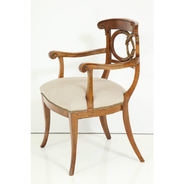 Pair of Biedermeyer Armchairs For Sale In New York - Image 6 of 10