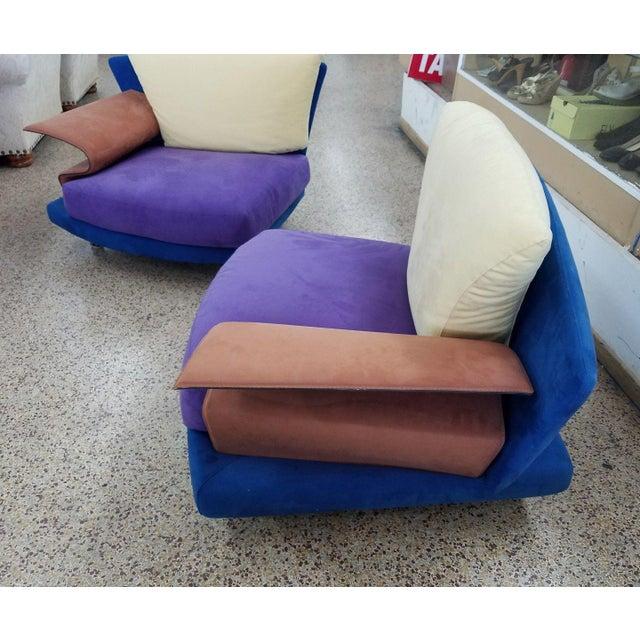 Saporiti 1990s Vintage Saporiti Modern Lounge Chairs - A Pair For Sale - Image 4 of 8