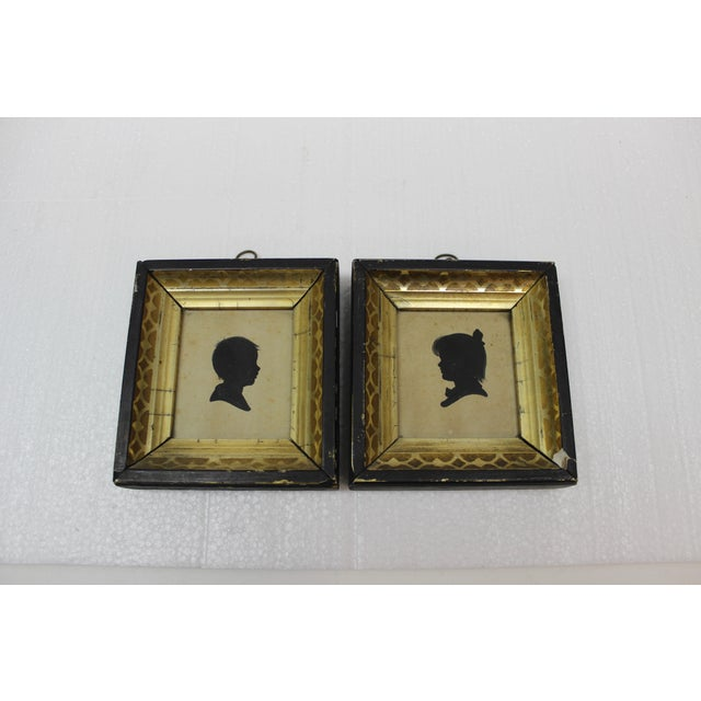 Antique Silhouette Miniatures - a Pair For Sale - Image 9 of 9