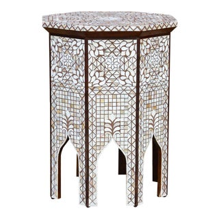 Syrian Mother of Pearl Inlaid Table For Sale