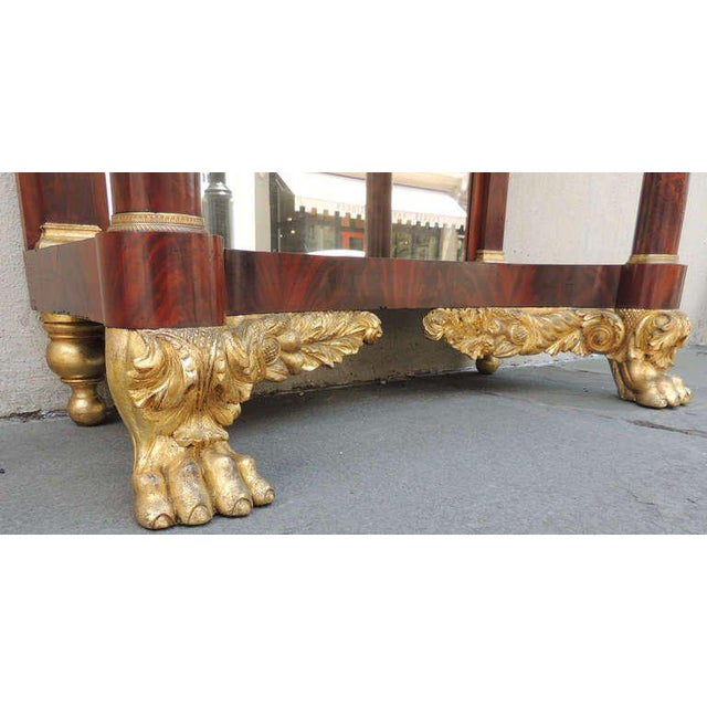 19th C New York Marble-Topped Pier Table For Sale In Charleston - Image 6 of 9