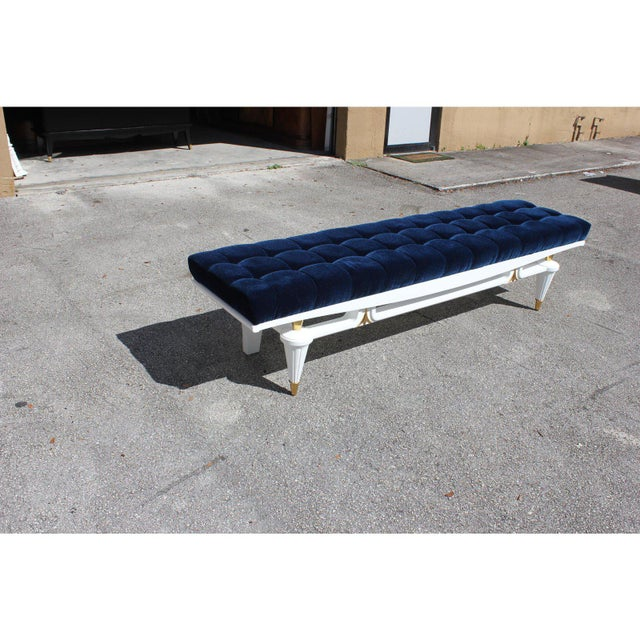 1940s 1940s Vintage French Art Deco Long Sitting Bench For Sale - Image 5 of 12
