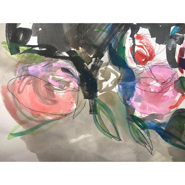 Jenny Vorwaller Red Roses Watercolor Painting - Image 3 of 4