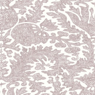 "Lewis & Wood Pomegranate Fresco Hellebore Extra Wide 52"" Botanic Wallpaper Sample For Sale"