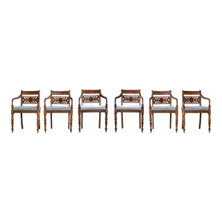 6 Dining Room Regency Chairs For Sale