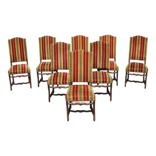 1900s Vintage French Louis XIII Style Os De Mouton Dining Chairs - Set of 8 For Sale