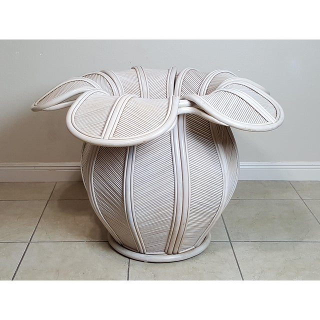 1970s Gabriella Crespi Attributed Sculptural Flower Dining Table For Sale - Image 5 of 9